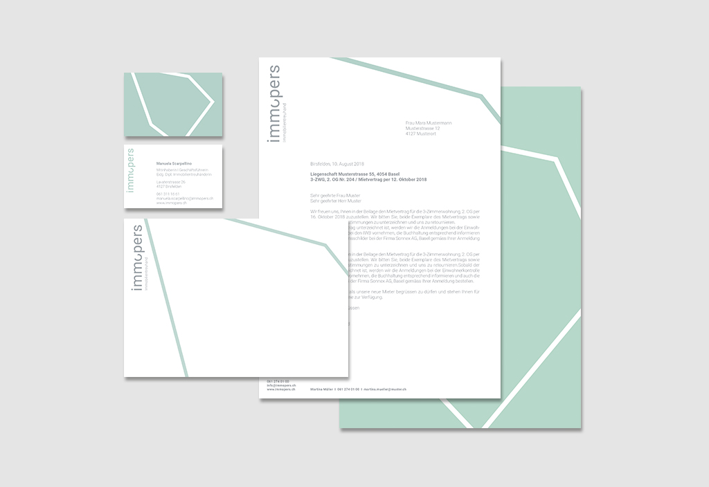 visual communication alessia pennetta Immopers – Corporate Identity